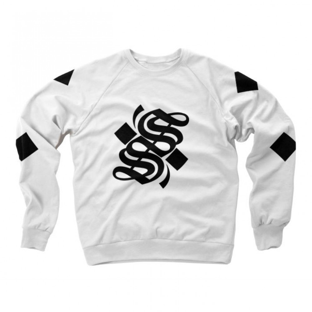 S Logo Crewnexk - White - Small